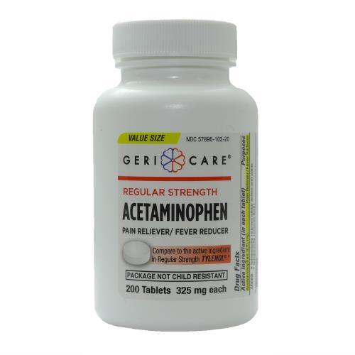 ACETAMINOPHEN TAB 325MG 200/BT