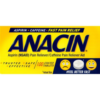 ANACIN PAIN RELIEF TABS 100/BT