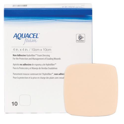 AQUACEL FOAM NON-ADH 4X4 10/BX