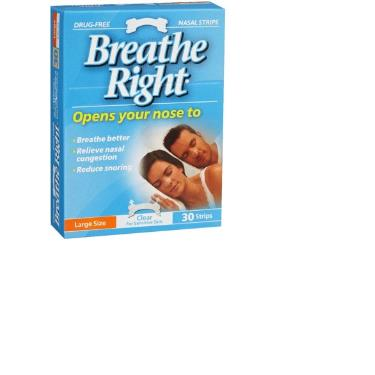 BREATHE RIGHT CLEAR NASL STRPS