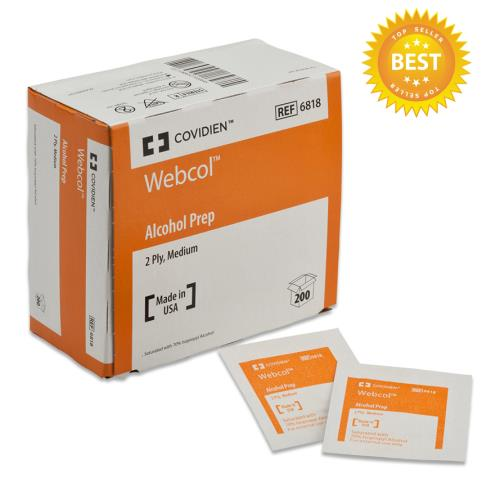 ALCOHOL PREP PADS MED 2PLY