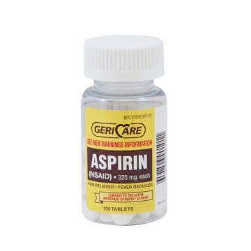 ASPIRIN 325MG 100/BT