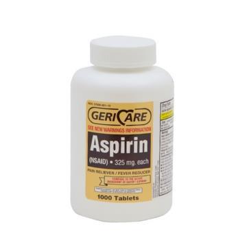 ASPIRIN 325MG 1000/BT