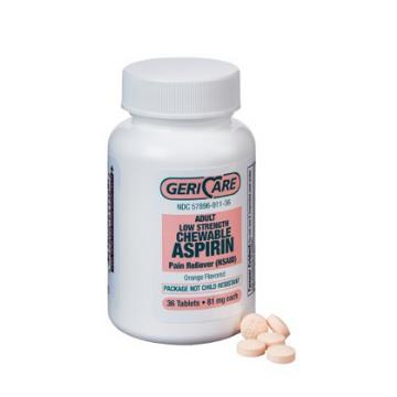 ASPIRIN BABY CHEW 81MG  36/BT
