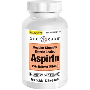 ASPIRIN COATED 325MG 200/BT