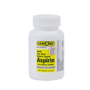 ASPIRIN CTD LOWDOSE 81MG 100/B