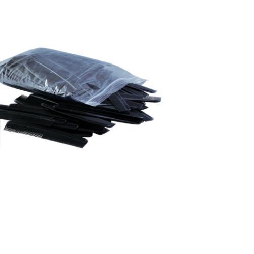 """COMB 7"""" BLACK 144/BAG"""